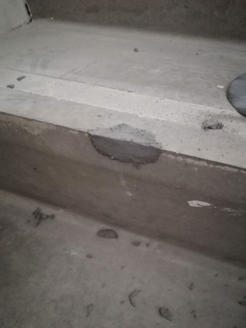 Cosmetisch betonherstel 2 - voor